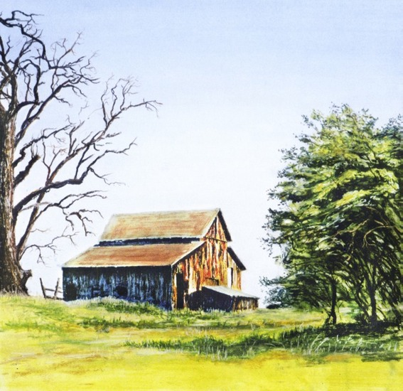 Barn,2 trees iwebpsd